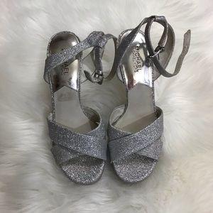 MICHAEL Michael Kors Shoes - Michael Kors Silver Strappy platform Stilettos